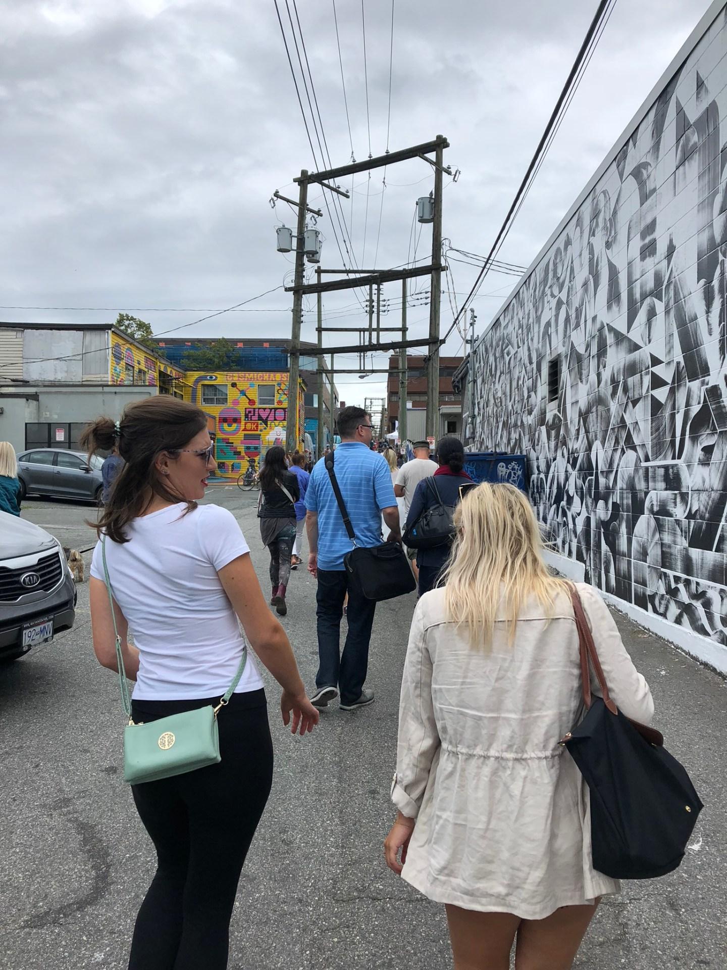 Girls at Vancouver Mural Festival