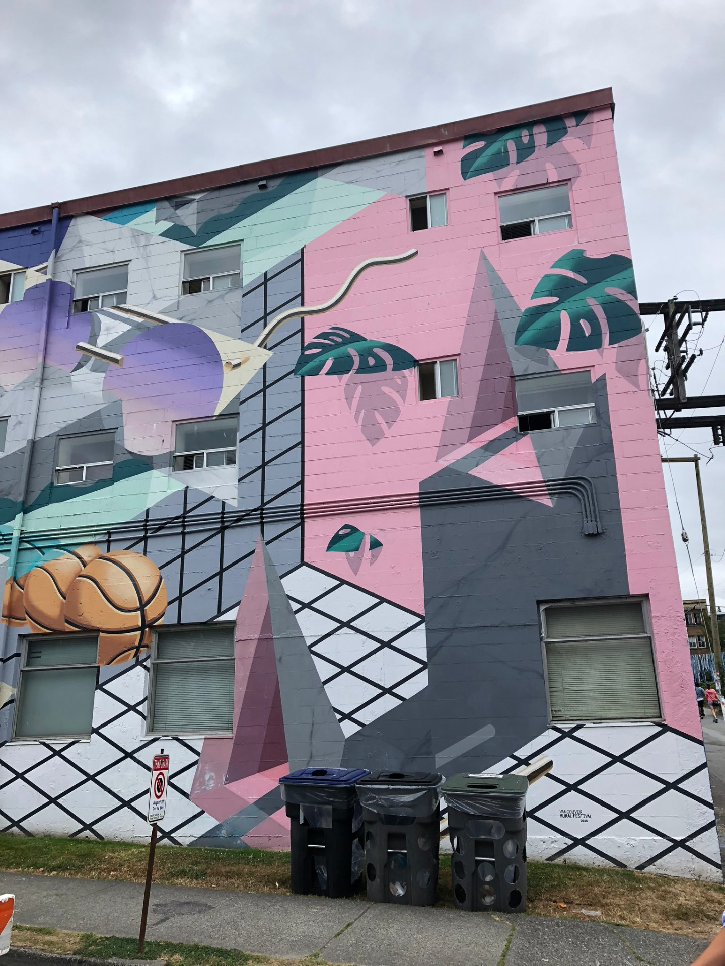 Botanical theme mural in Vancouver