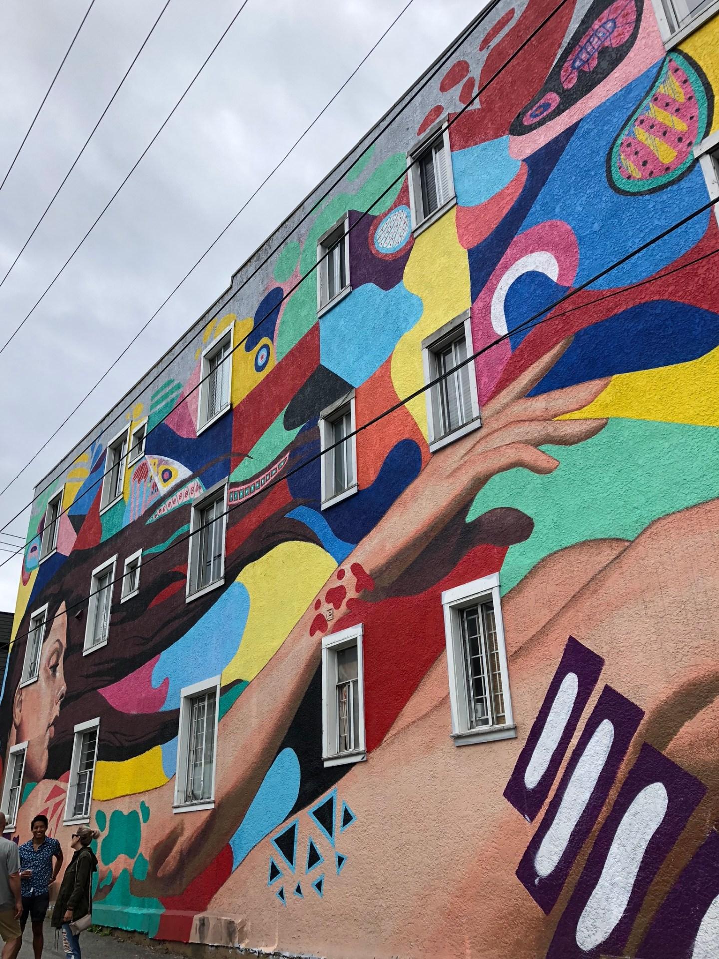 Giant mural at Vancouver Mural Festival