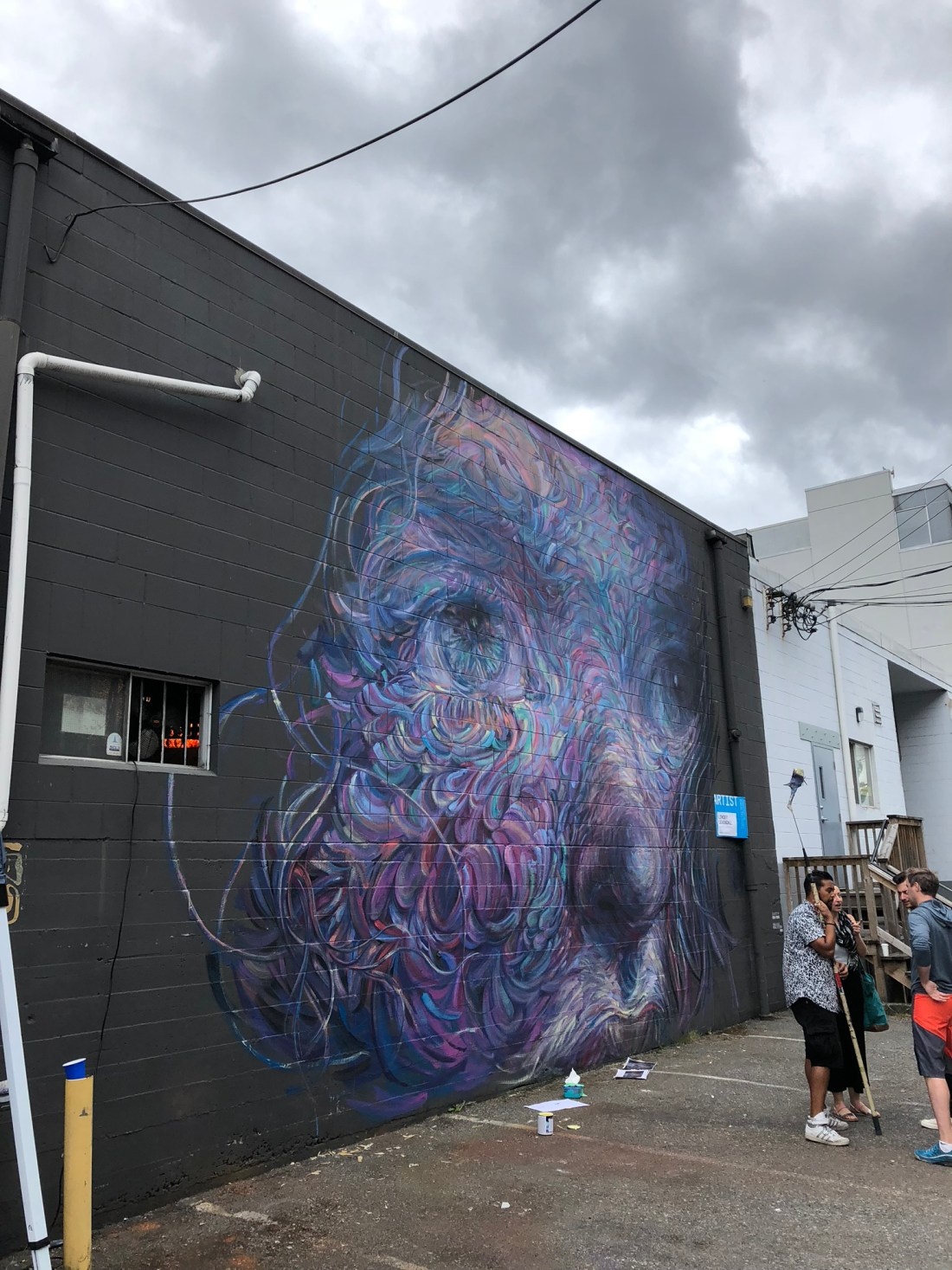 Mysterious street art at Vancouver Mural Festival