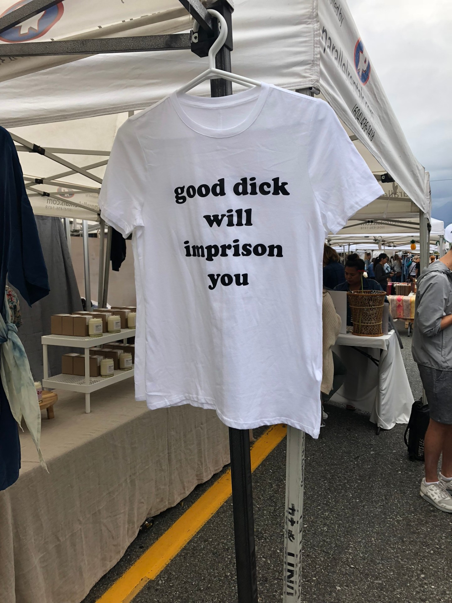 T shirts for sale on Main Street, Vancouver