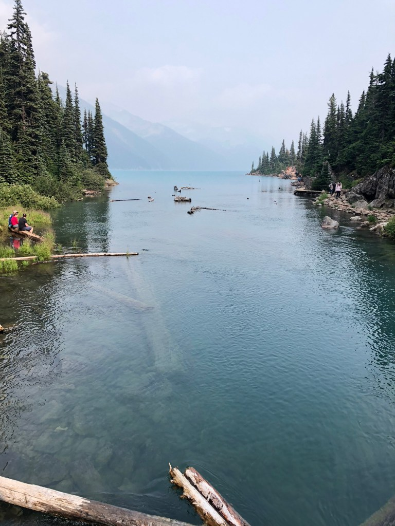 The blue waters of Garibaldi Lake