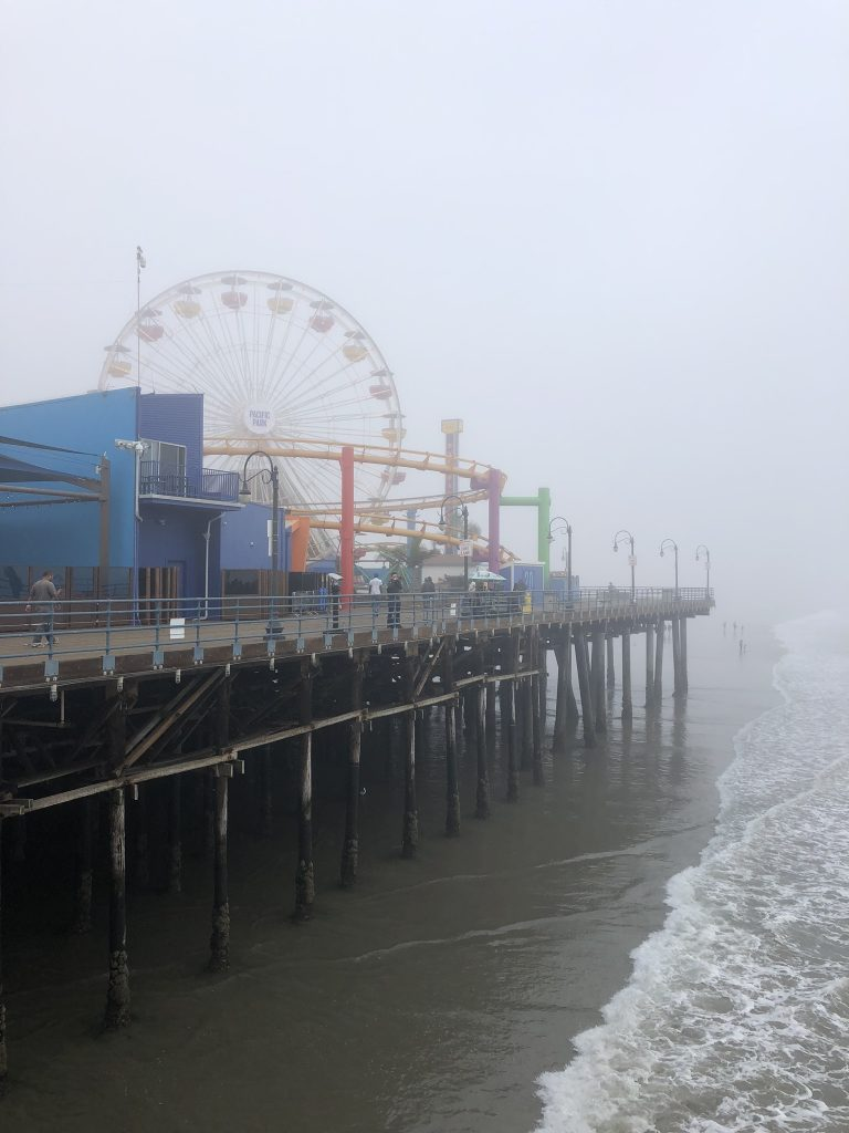 The ferris wheel at Santa Monica Pier, LA