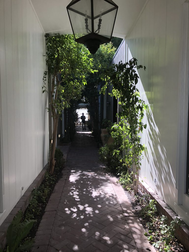 Entrance to shops, Melrose Place, LA