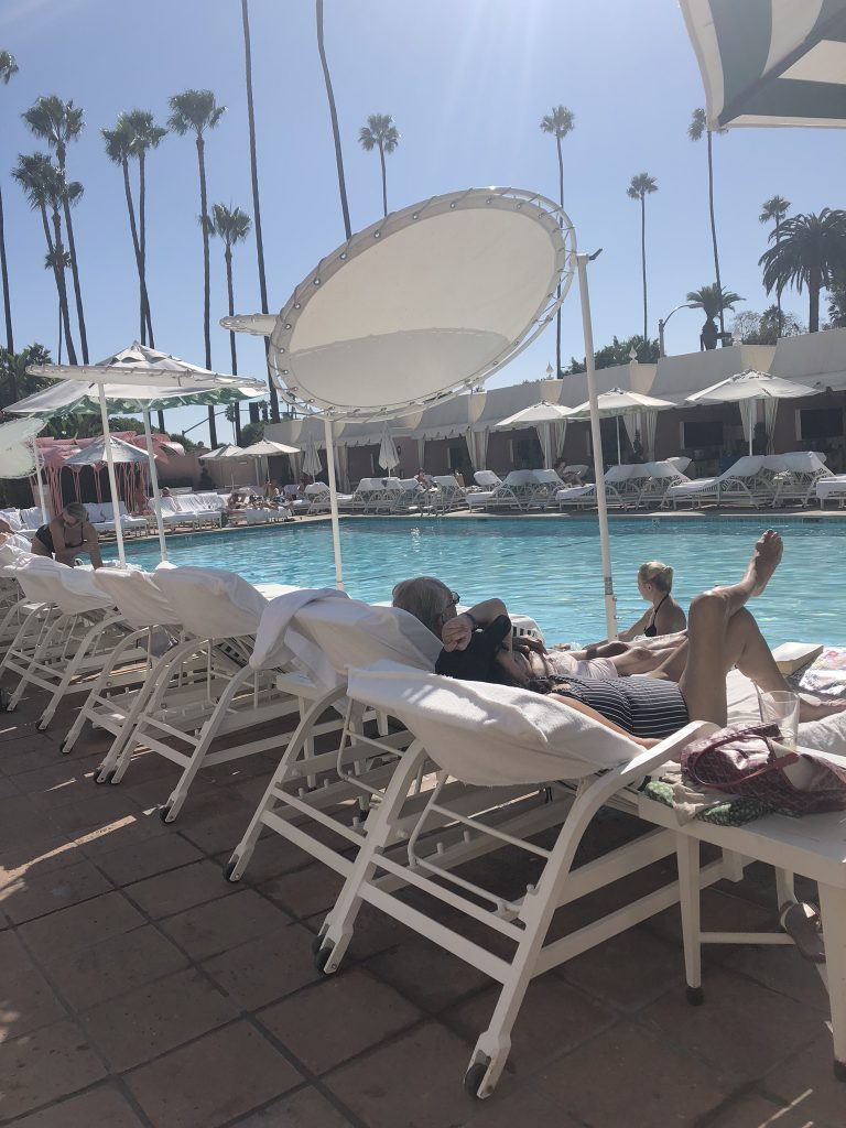 The pool at Beverly Hills Hotel