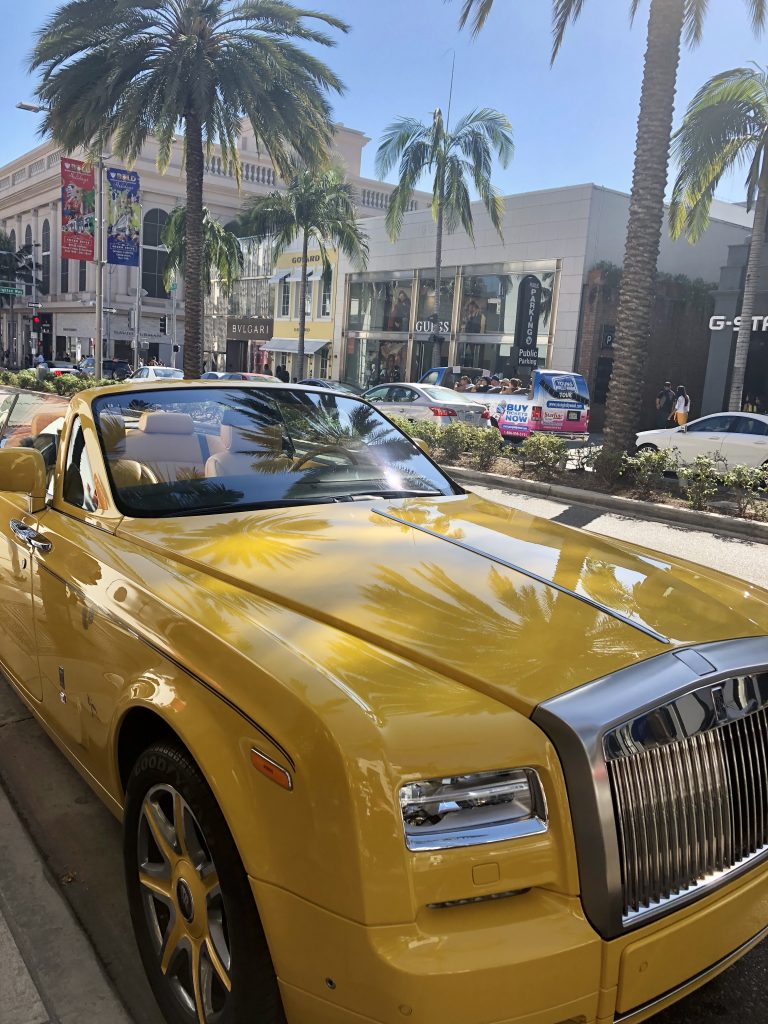 Yellow Rolls Royce of Rodeo Drive, LA