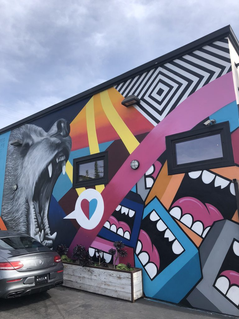 Street art and murals on Abbot Kinney Boulevard, Venice