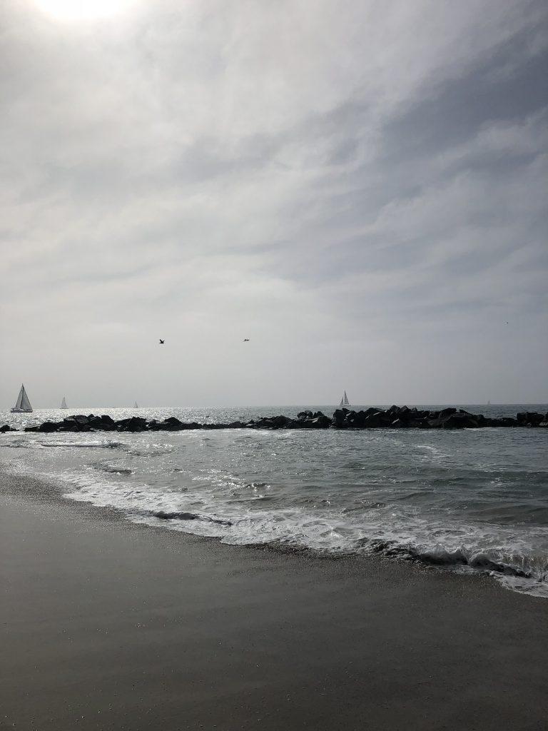Sailboats at Venice Beach, California