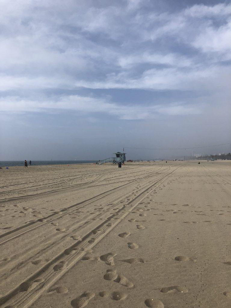 Stretch of Venice Beach, California