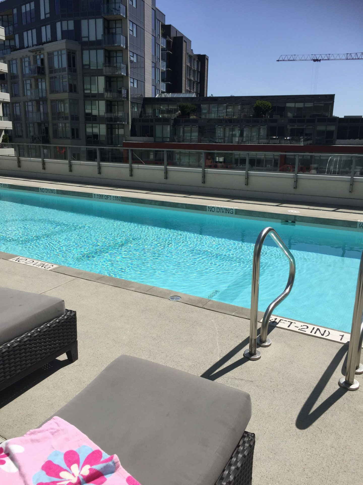 Rooftop swimming pool, Vancouver