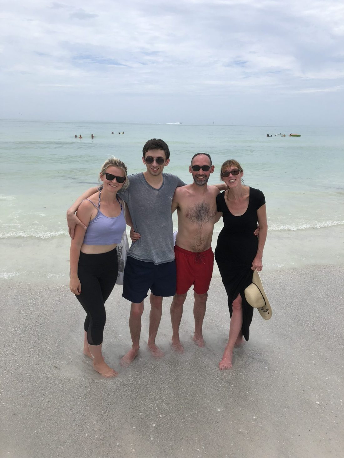 Family photo at Siesta Key beach, Florida