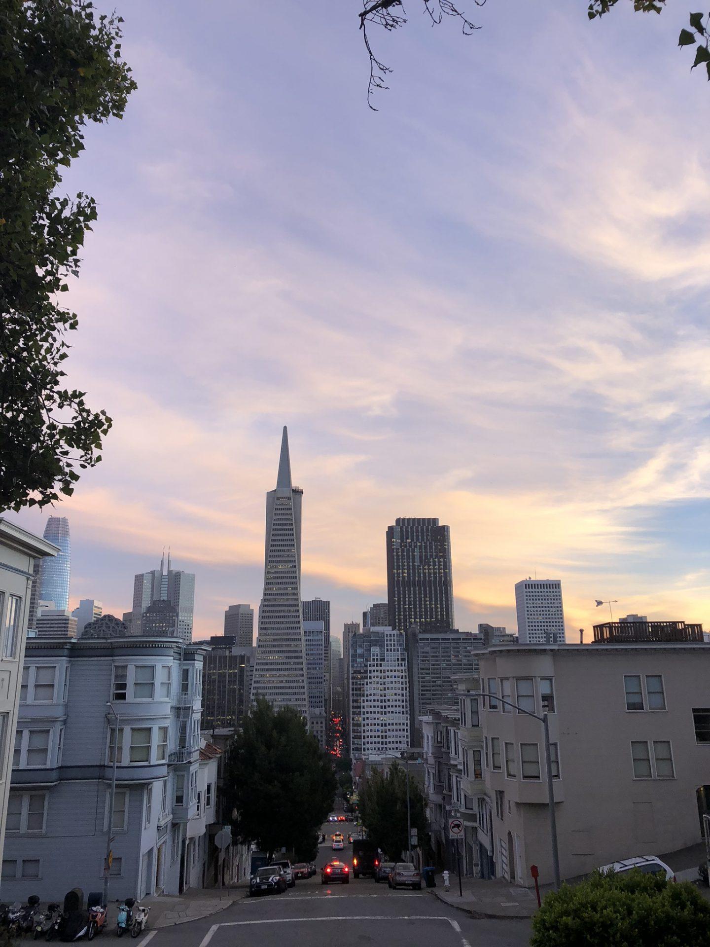 Sunset across San Francisco