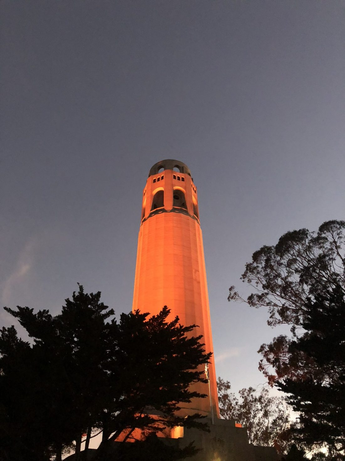 Sunset over the Coit Tower, San Francisco