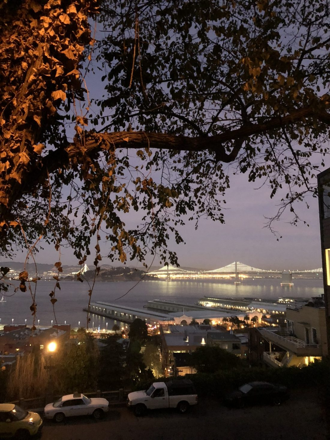 Night across the San Francisco - Oakland Bridge
