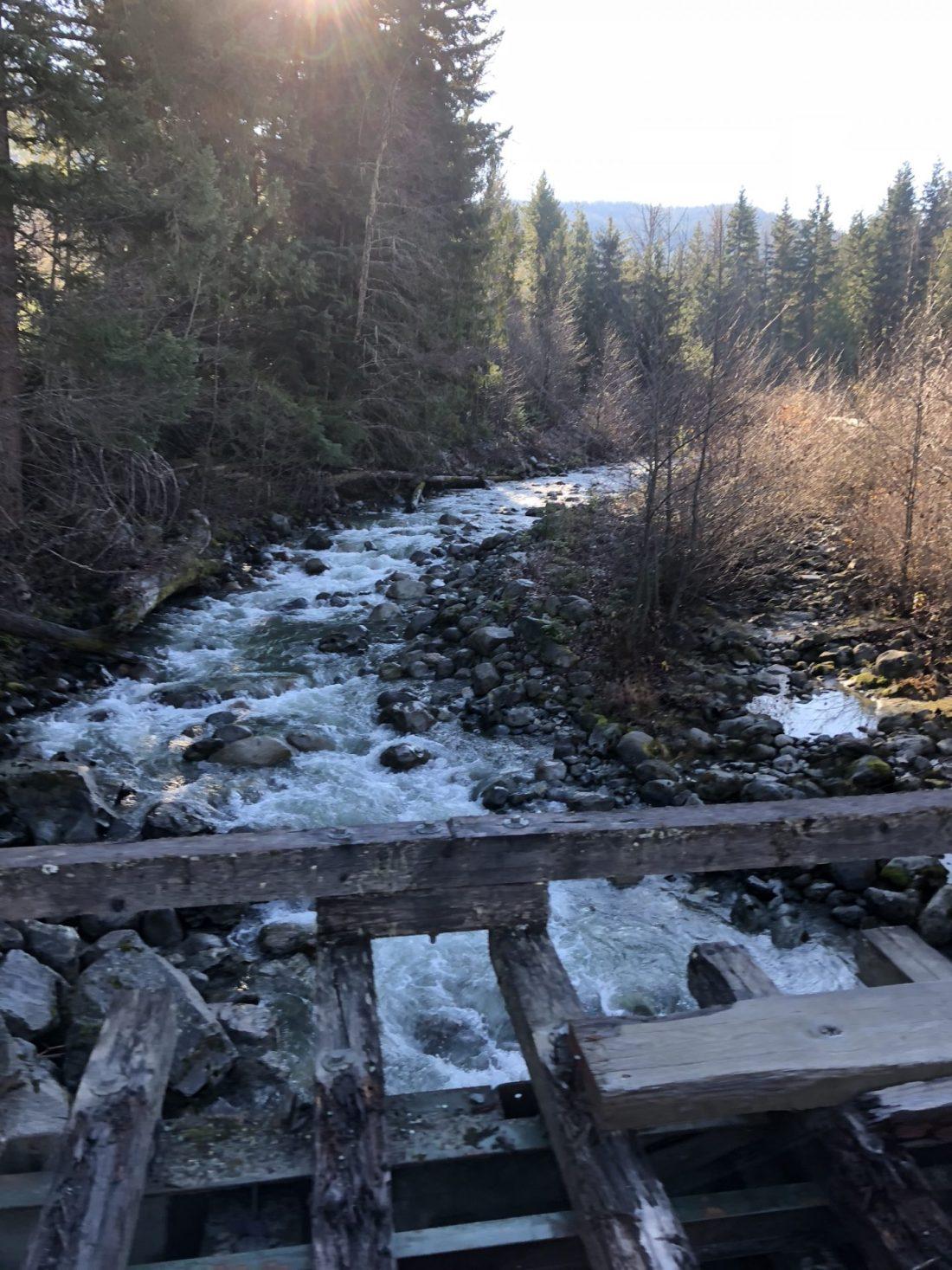 River near Parkhurst Ghost Town in Whistler