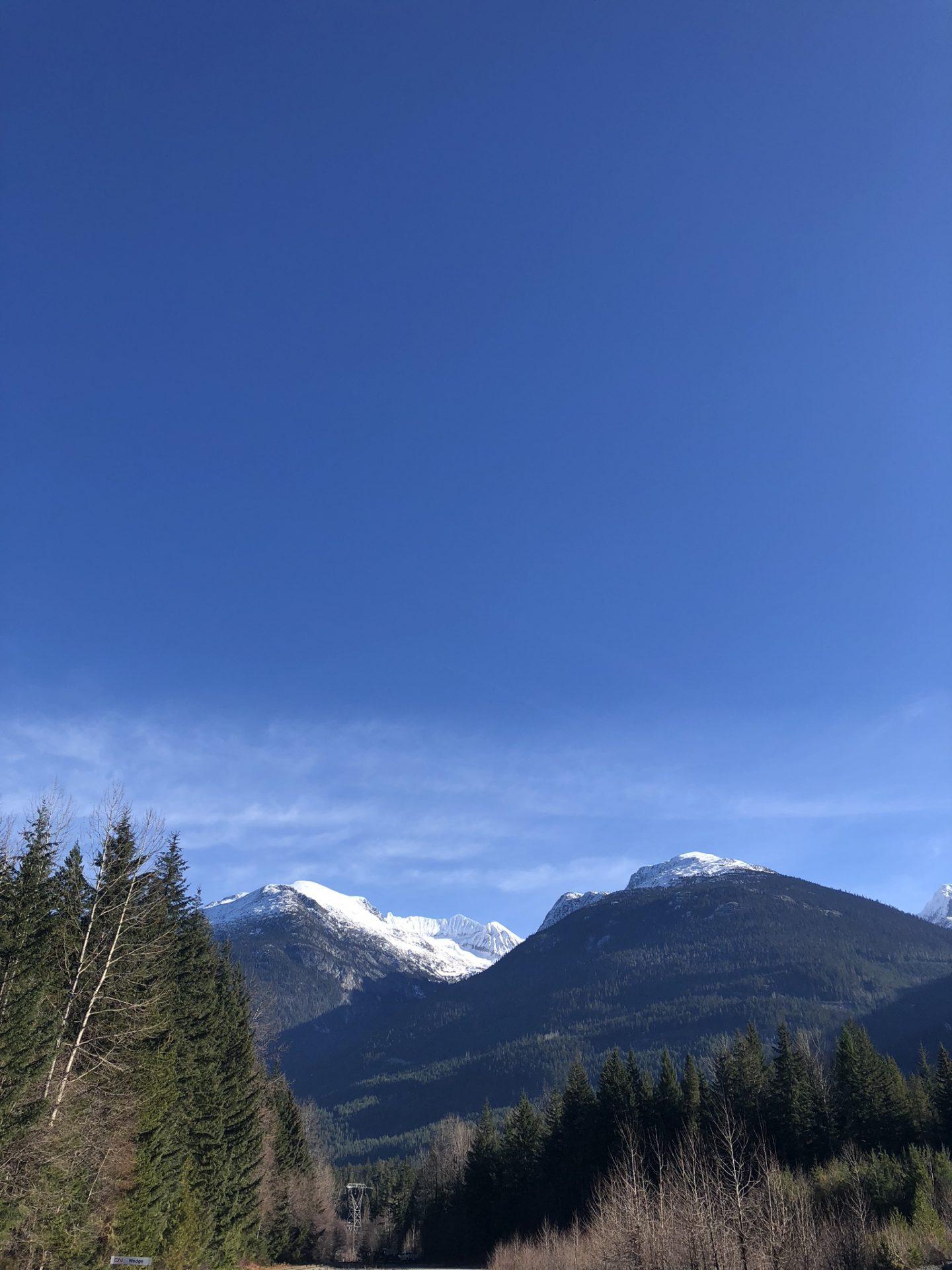 Beautiful mountain view near Whistler, British Columbia