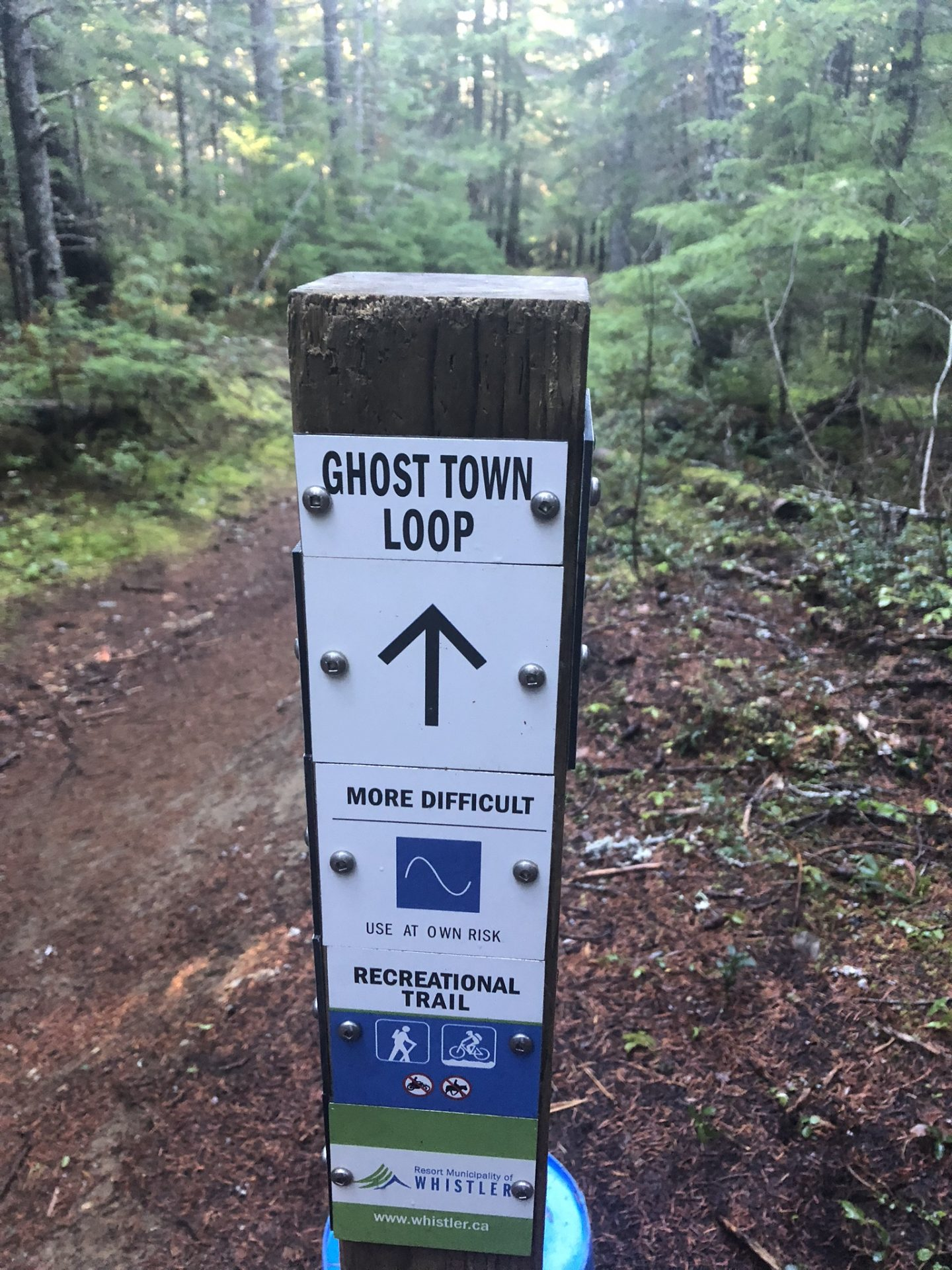 A ghost town loop at Parkhurt near Whistler, British Columbia