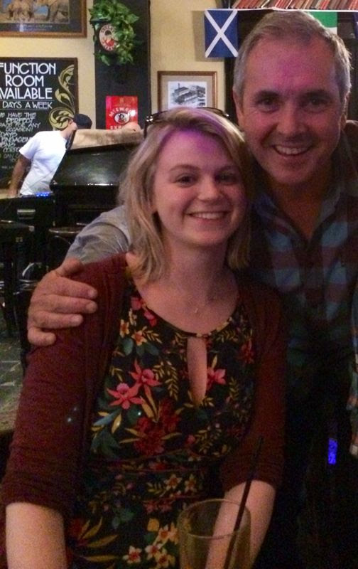 With Karl Kennedy from Neighbours in Melbourne
