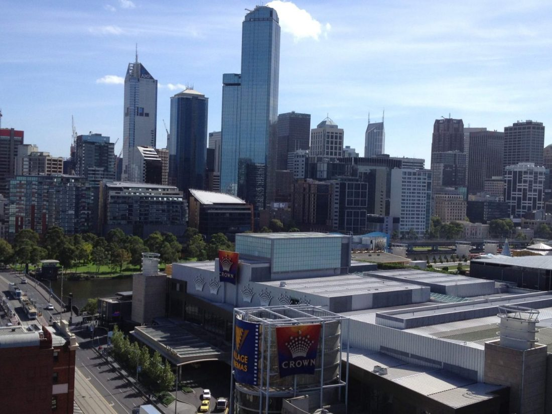 Views over Melbourne and the Crown Casino
