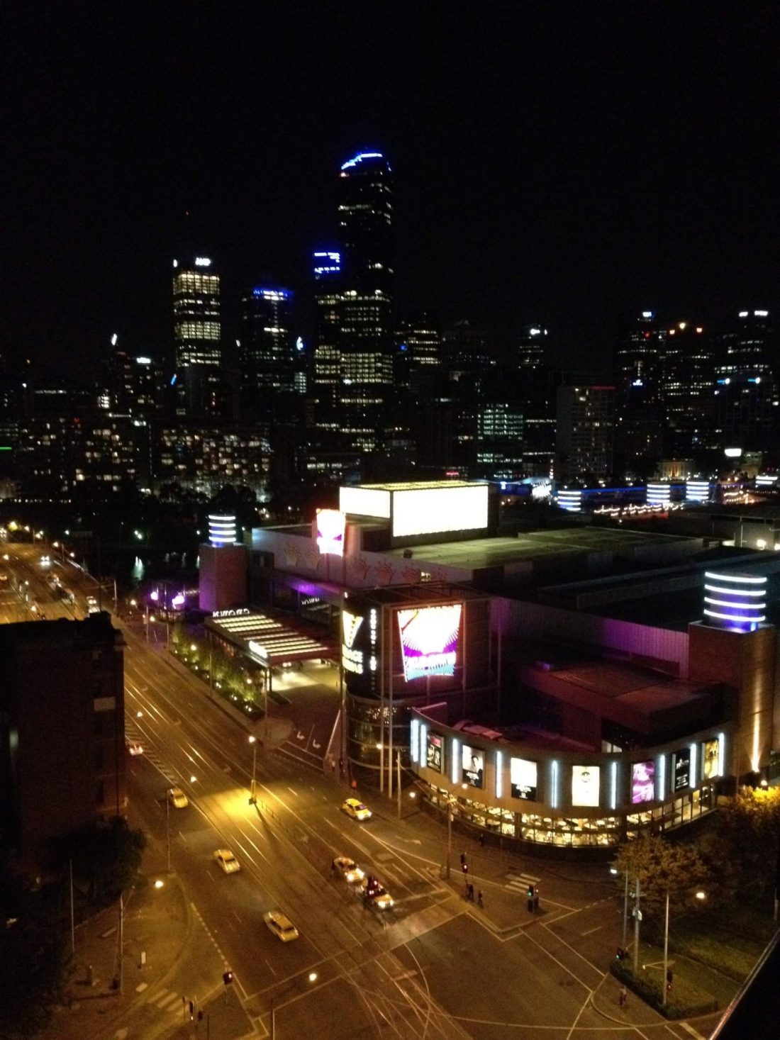 Melbourne and the Crown Casino by night