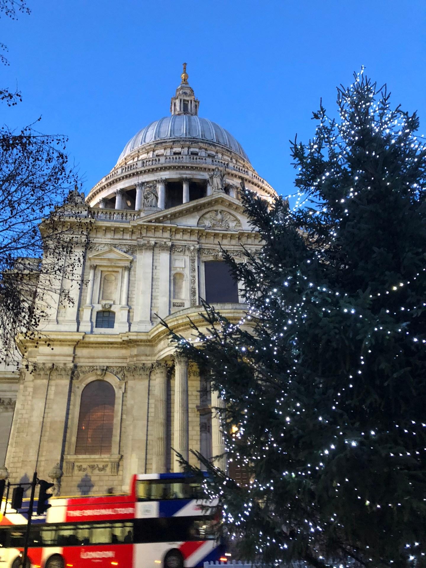 St Pauls Cathedral at Christmas, London
