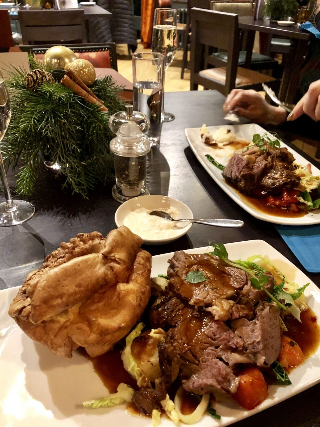 Home for the holidays: roast beef dinner at the Langton