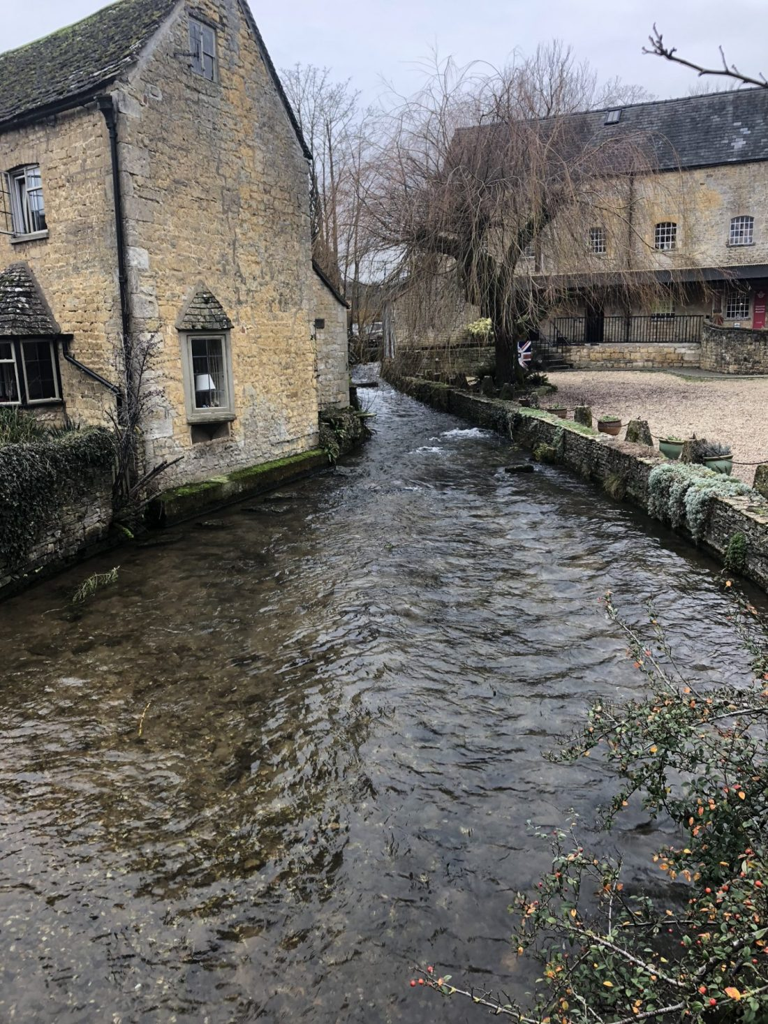 A stream in Bourton-on-the-Water, Gloucestershire
