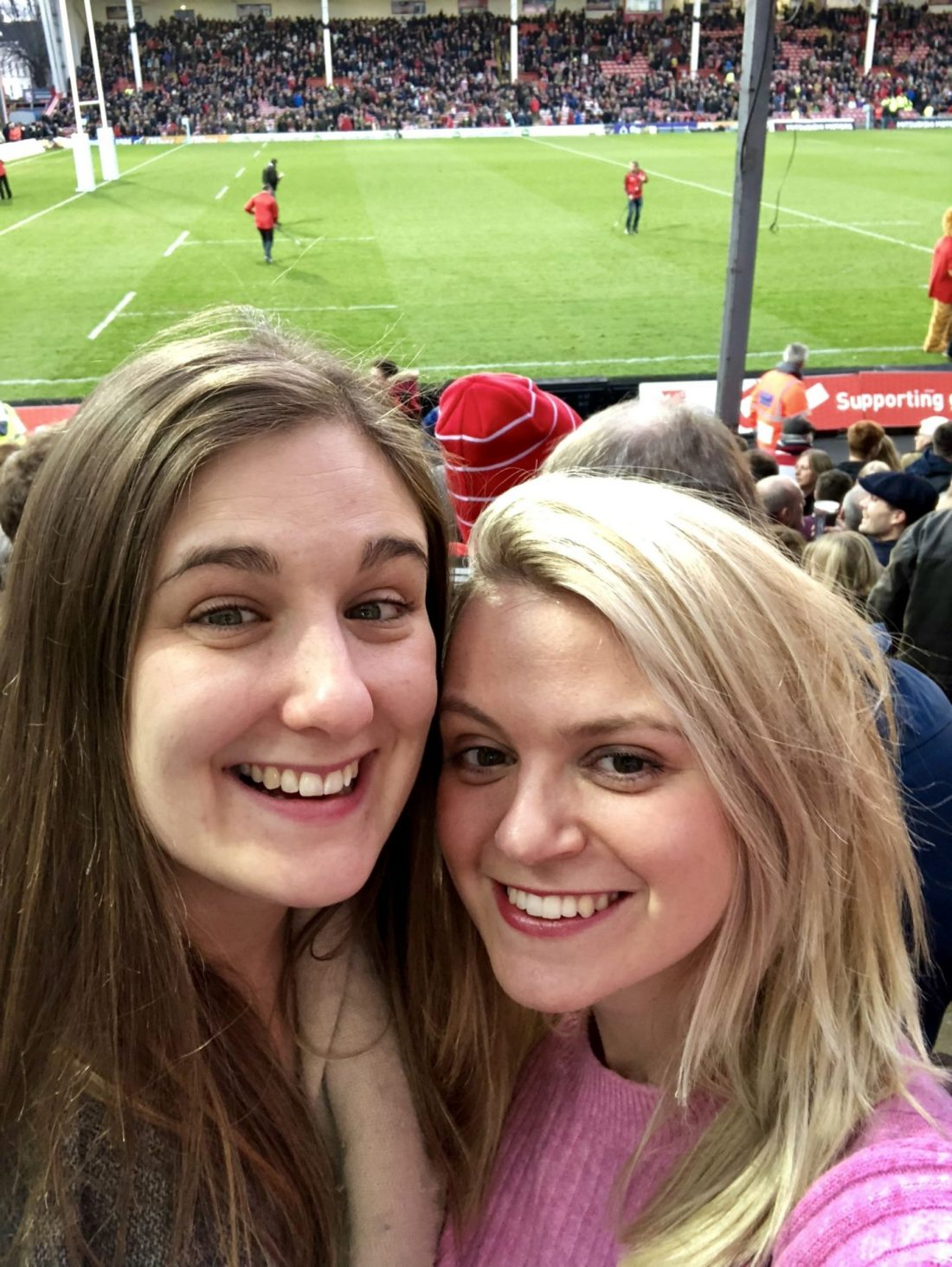 Home for the holidays: girls at Gloucester Rugby