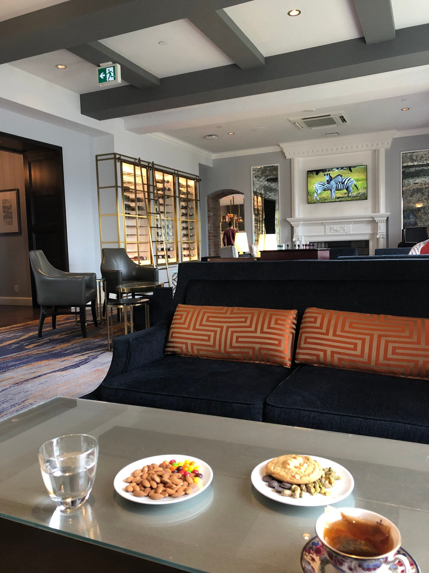 Snacks in the Fairmont Empress Gold Lounge, Victoria, British Columbia