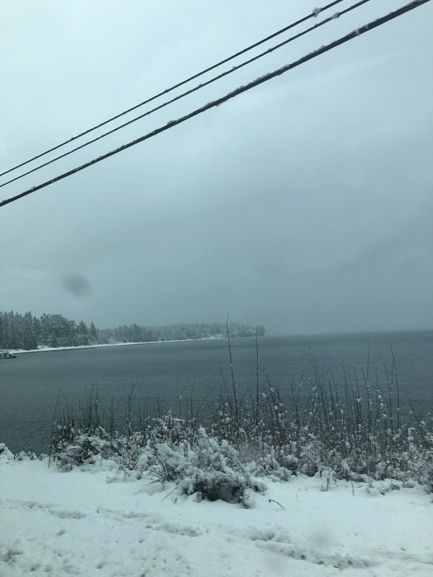 Snowy Port Renfrew in British Columbia