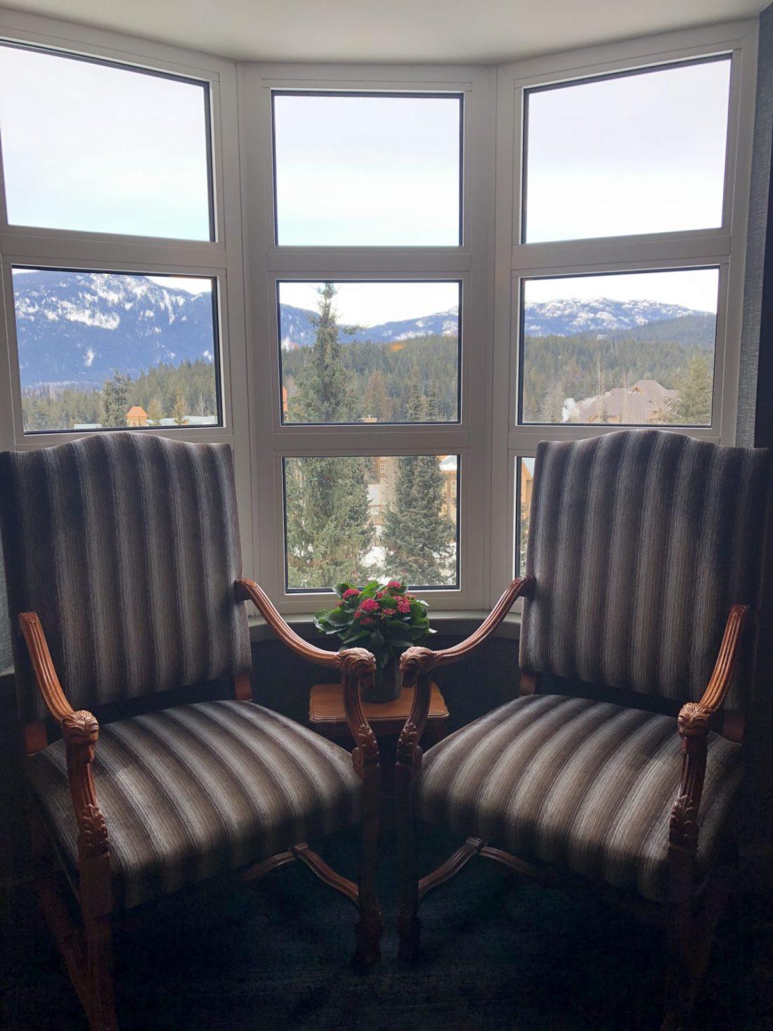 Mountain views from Fairmont Chateau Whistler