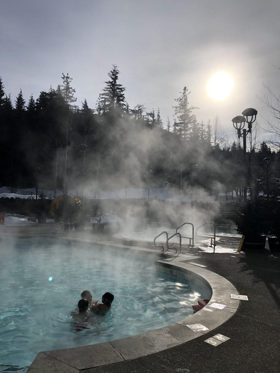 Spa pools at Fairmont Chateau Whistler, British Columbia