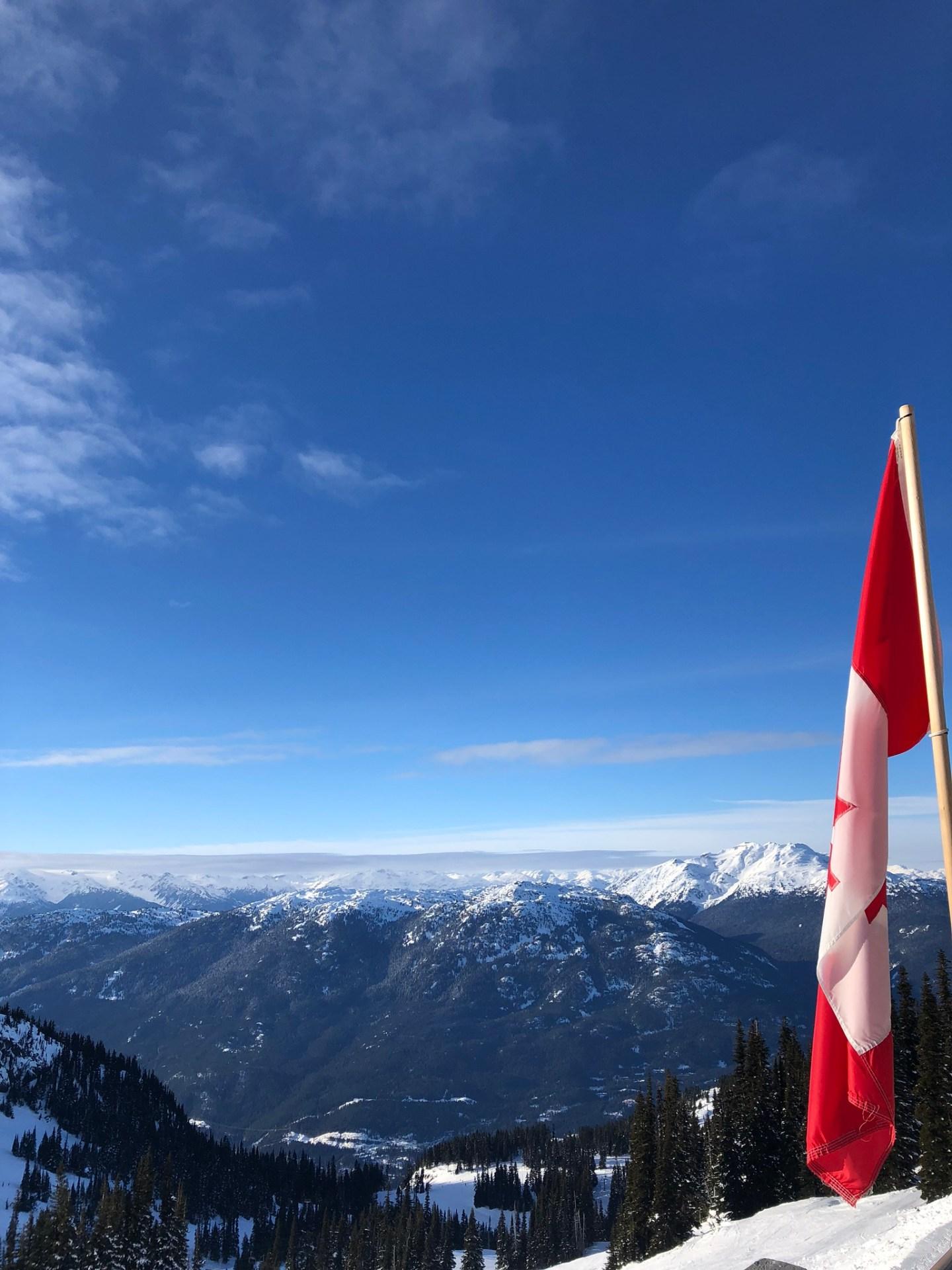 Peak of Whistler mountain