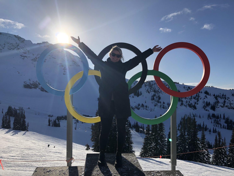 Laura on the Vancouver Winter Olympics podium