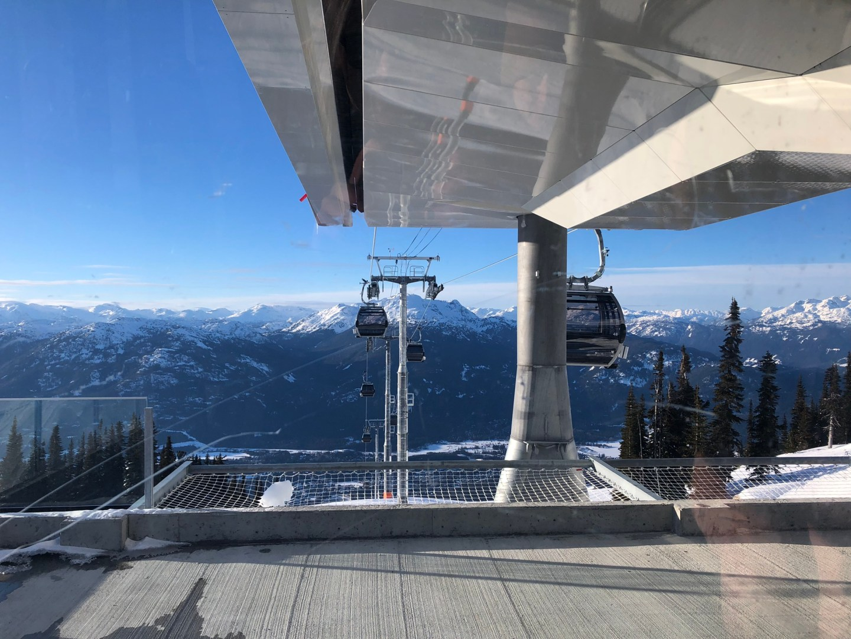 Ski lift down from Blackcomb Mountain