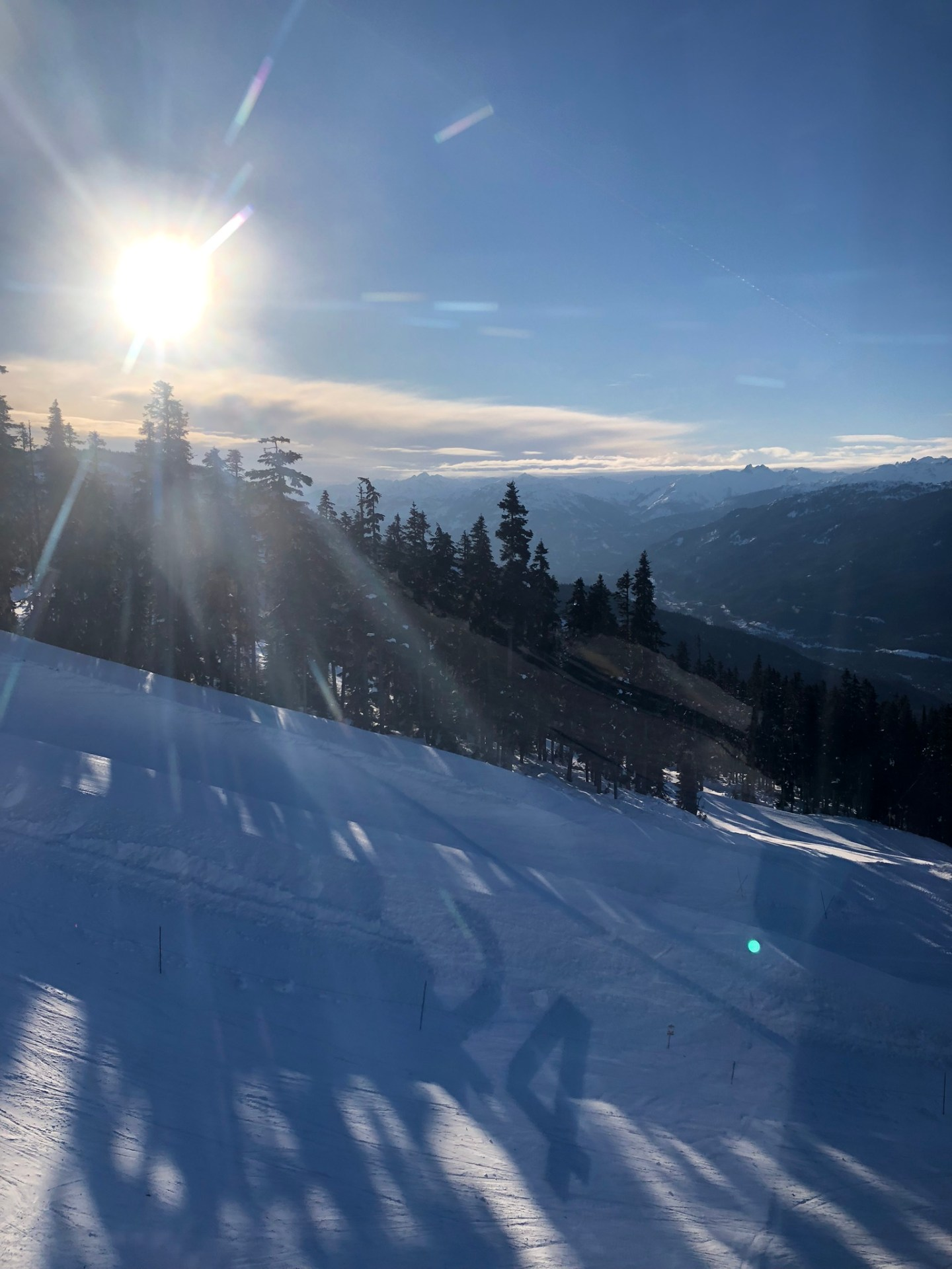 Views over Whistler, British Columbia from the ski lift