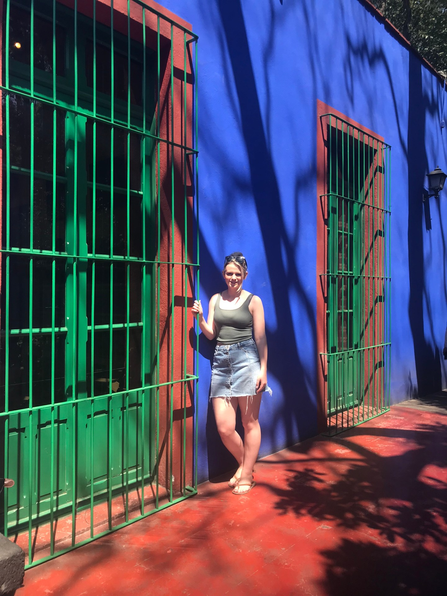 Laura at the Frida Kahlo Museum, Mexico City