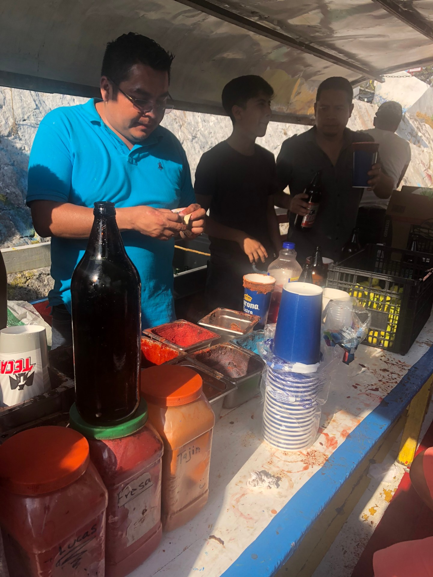 Micheladas at Xochimilco, Mexico City