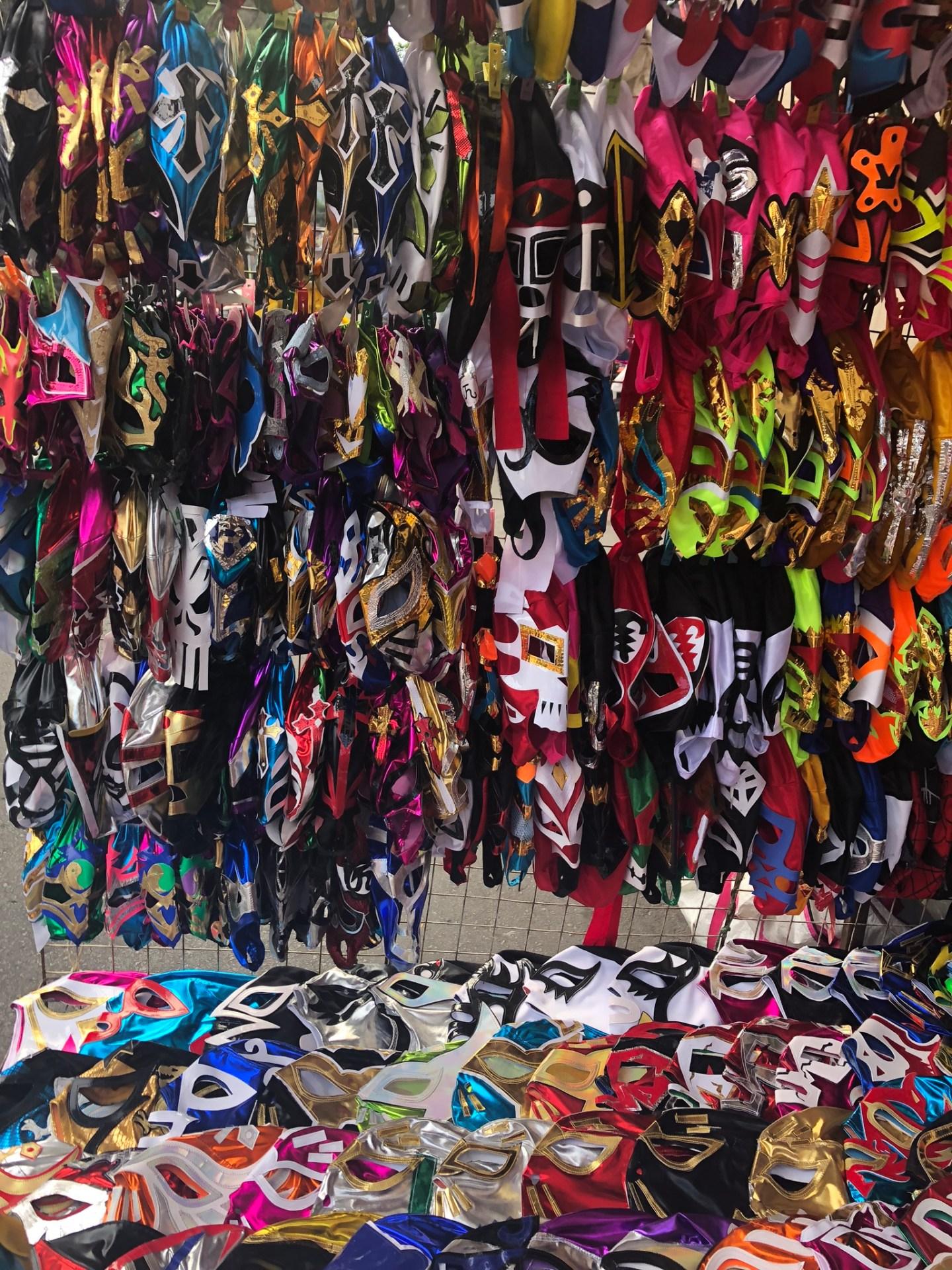 Lucha libre masks, Mexico City