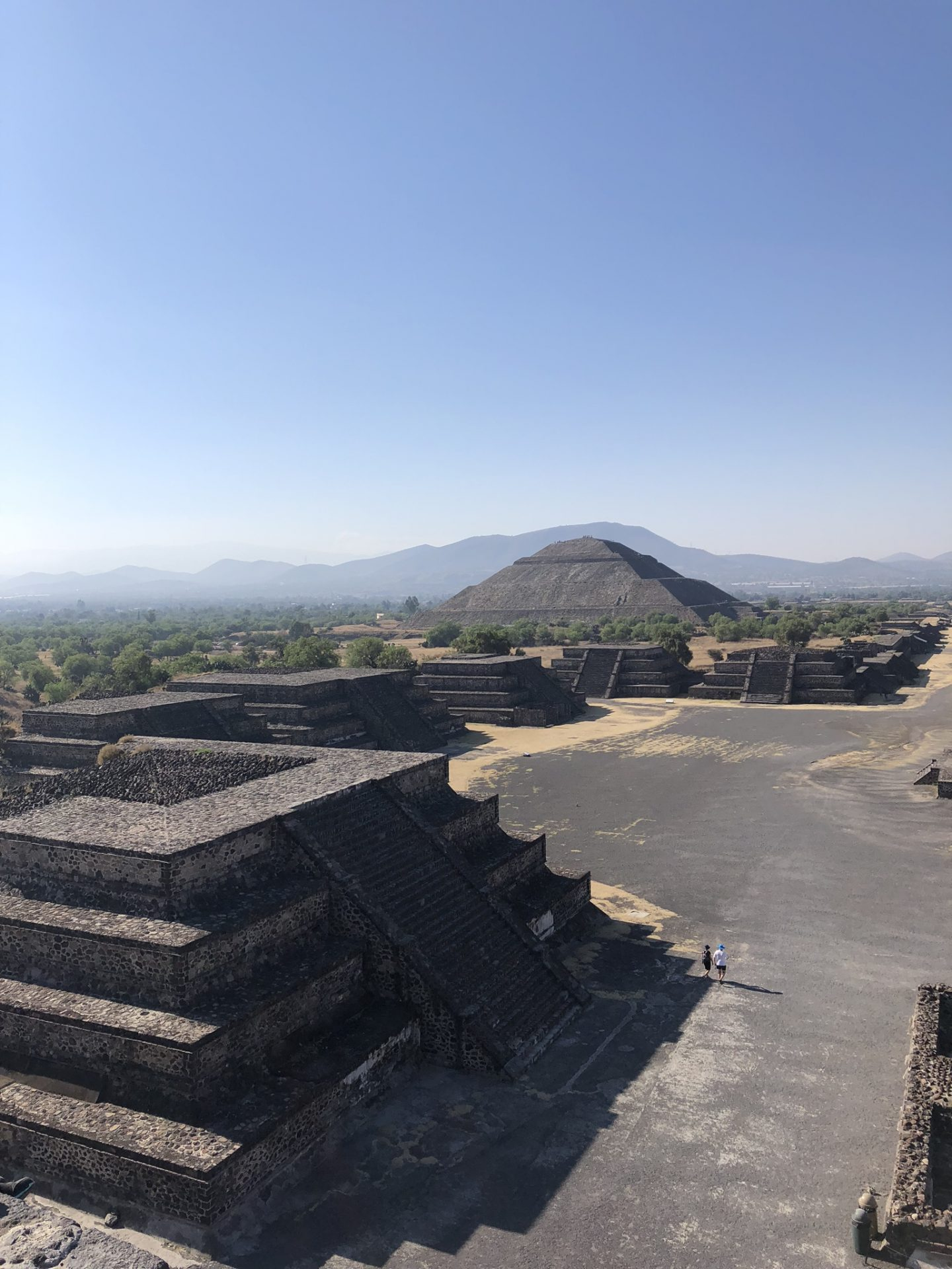 Views from the Pyramid of the Moon