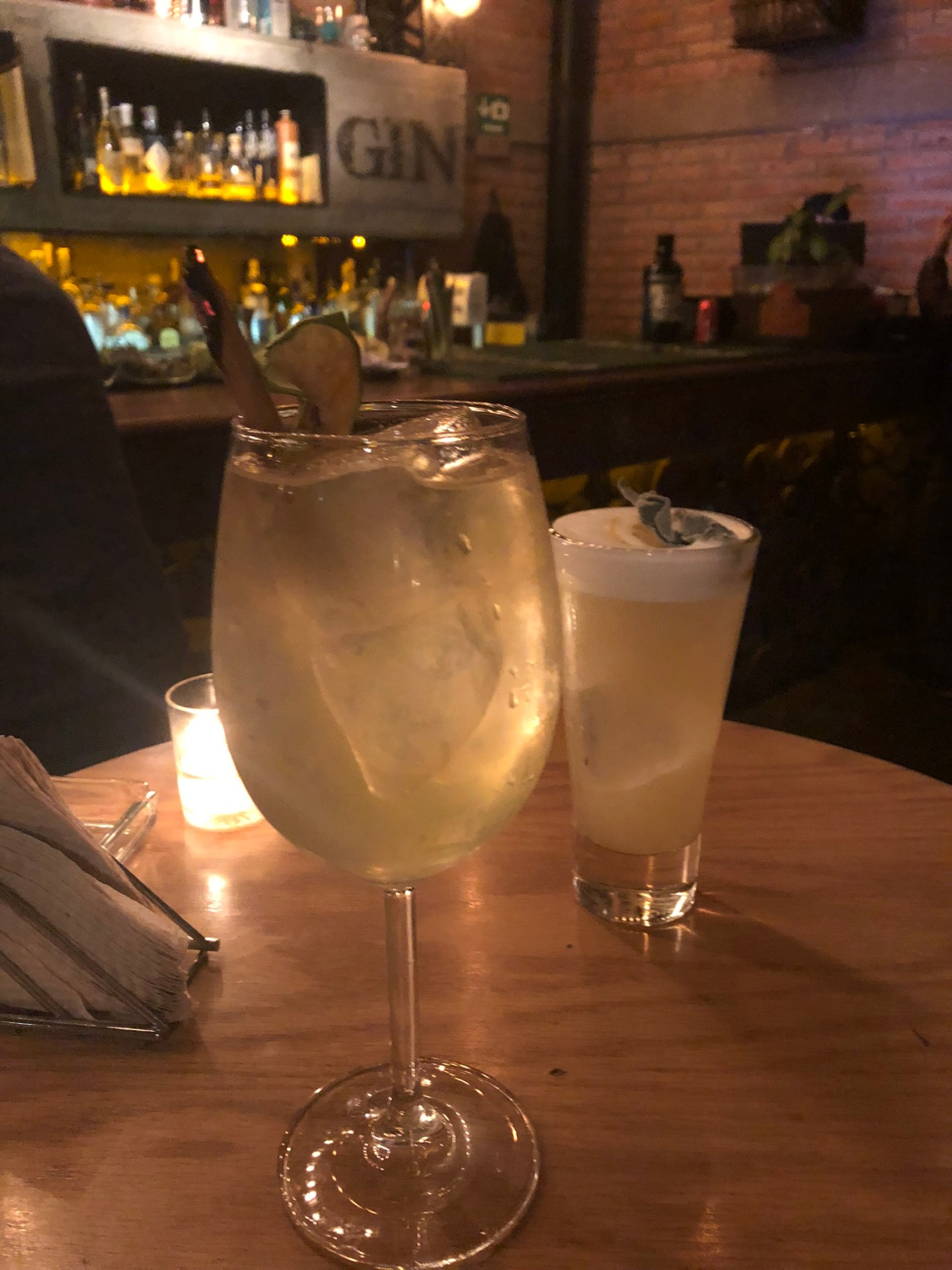 Gin cocktails at Gin Gin, Roma, Mexico City