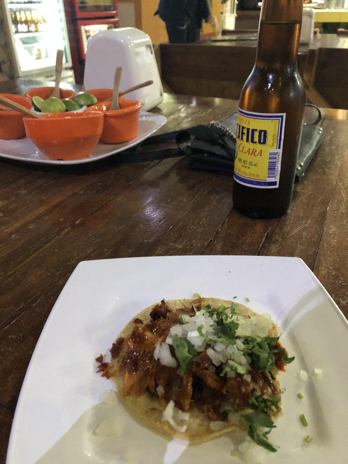 Al pastor breakfast taco