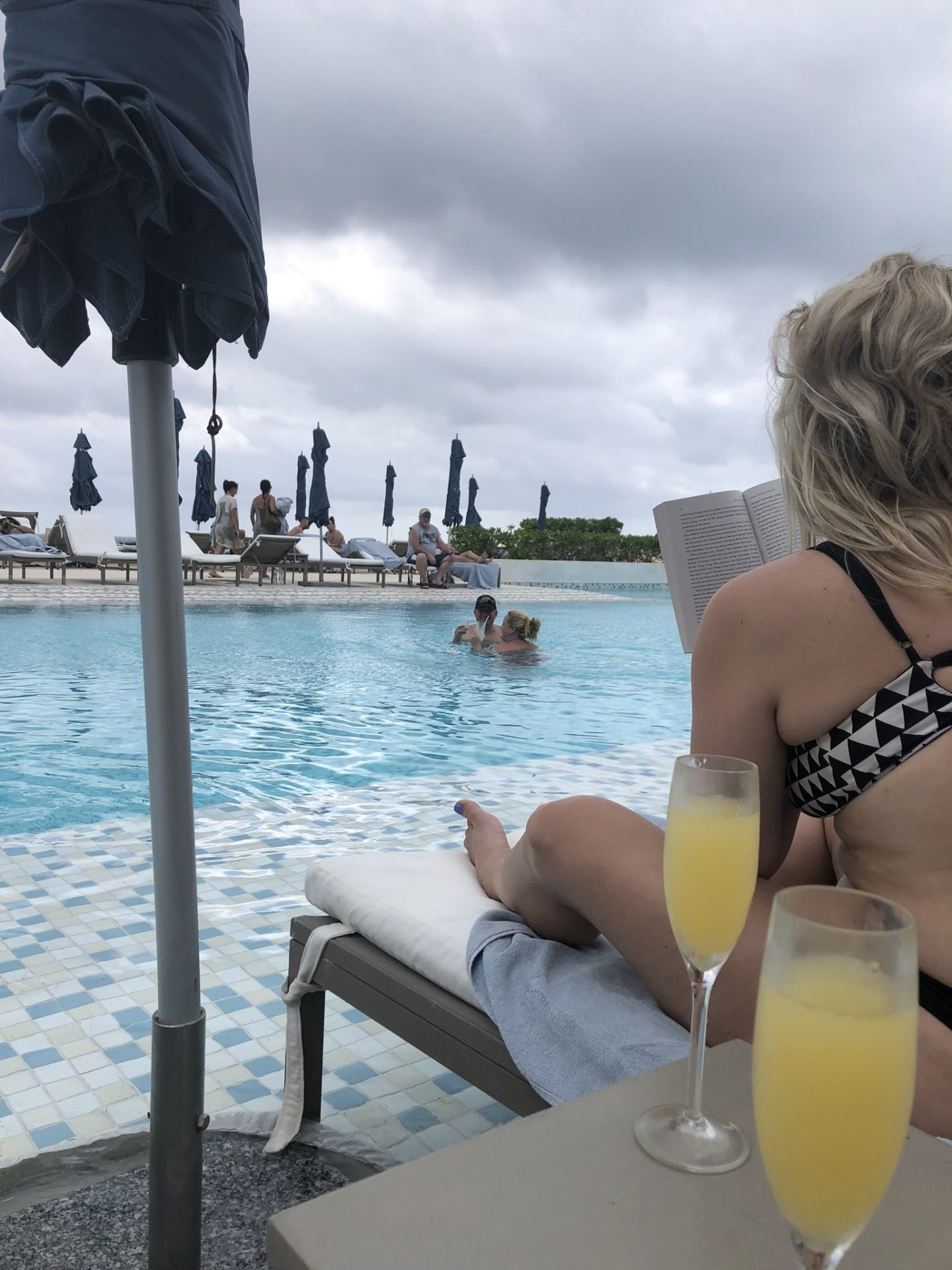 Mimosas by the pool