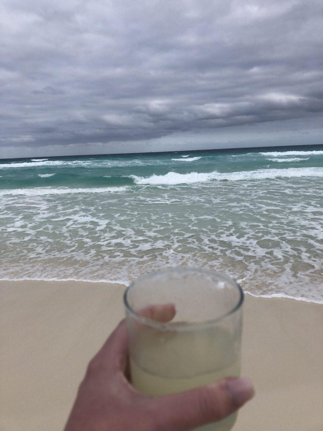 Margarita on the beach, Cancun