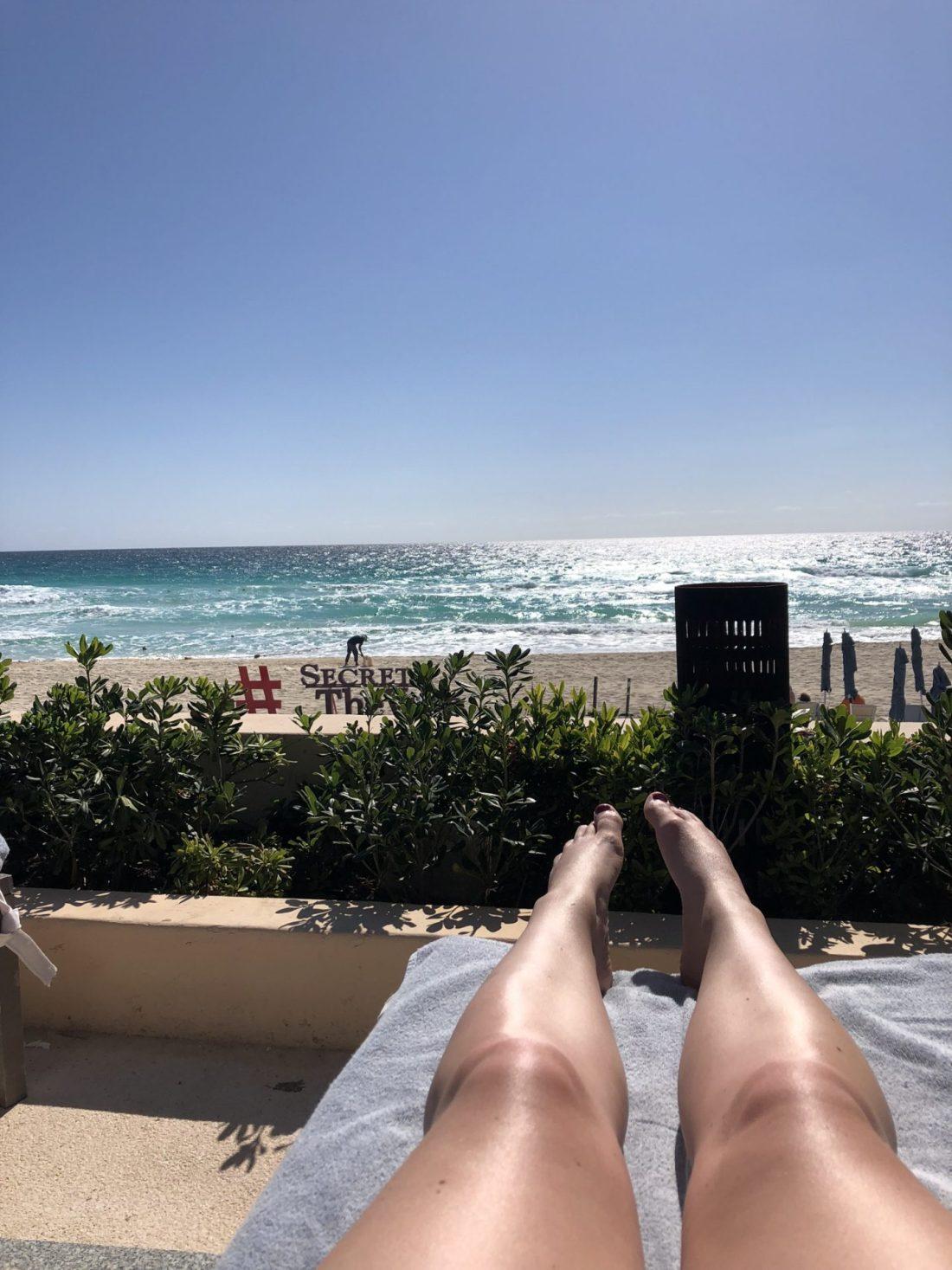 Sunbathing at Secrets The Vine, Cancún