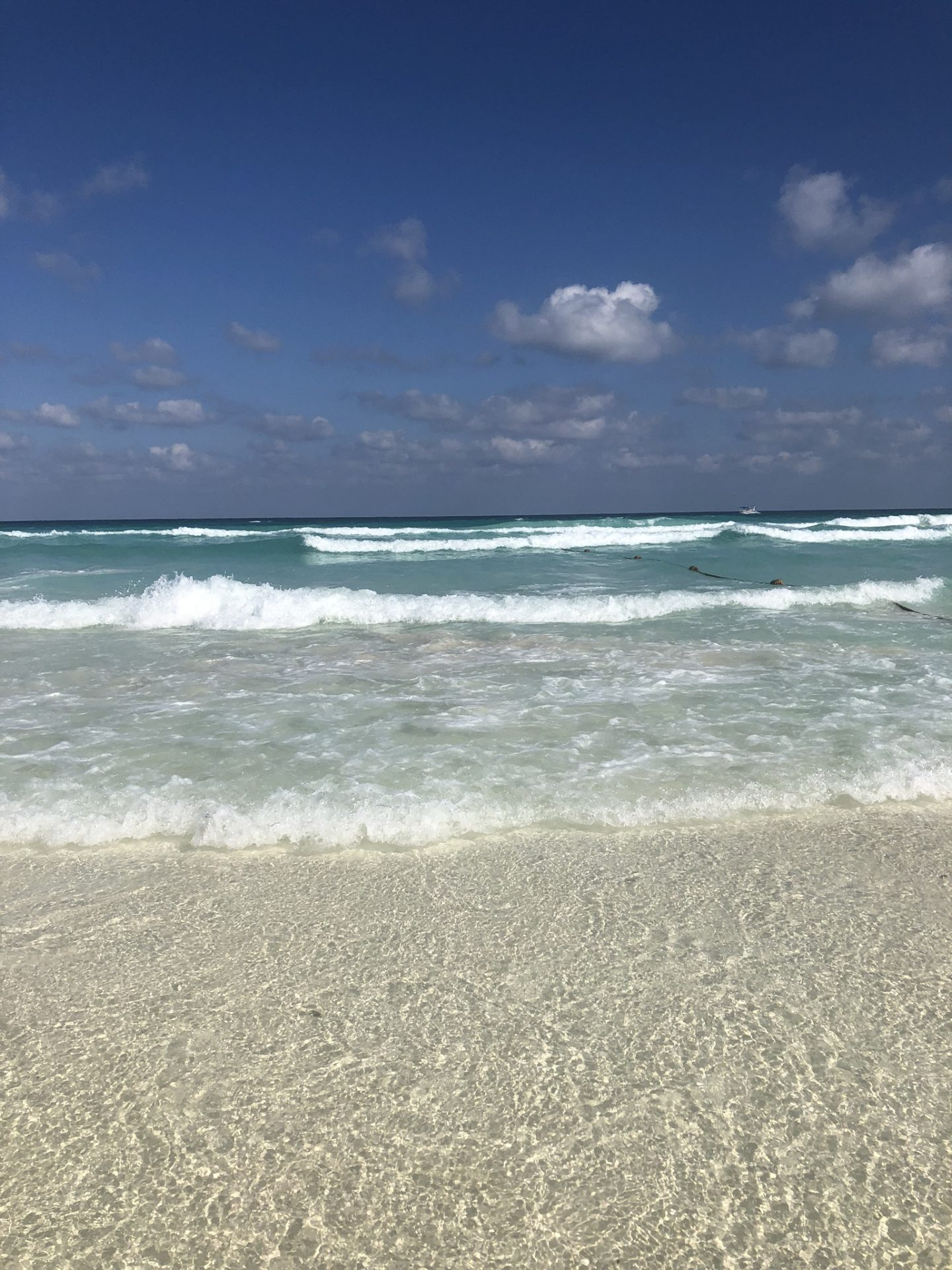 The beach in Cancún, Quintana Roo, Mexico