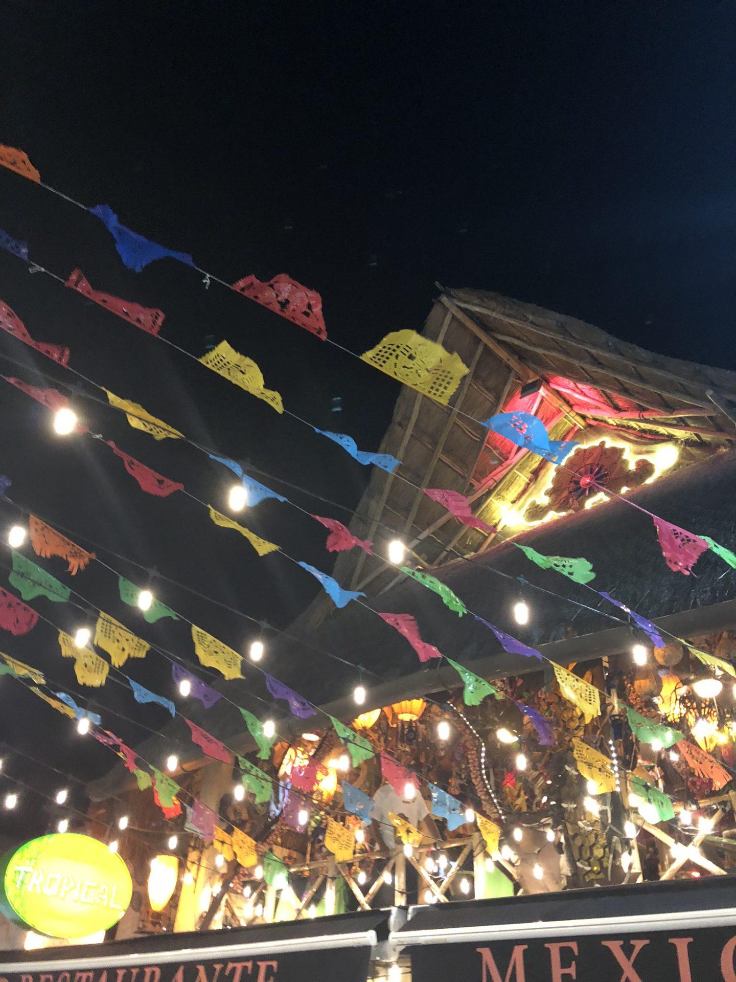 Mexican decorations in Playa del Carmen, Riviera Maya