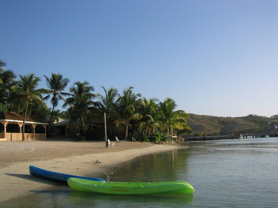 Kayaking on Mamora Bay Beach, Antigua