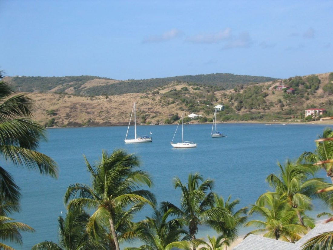Hotel views over Antigua