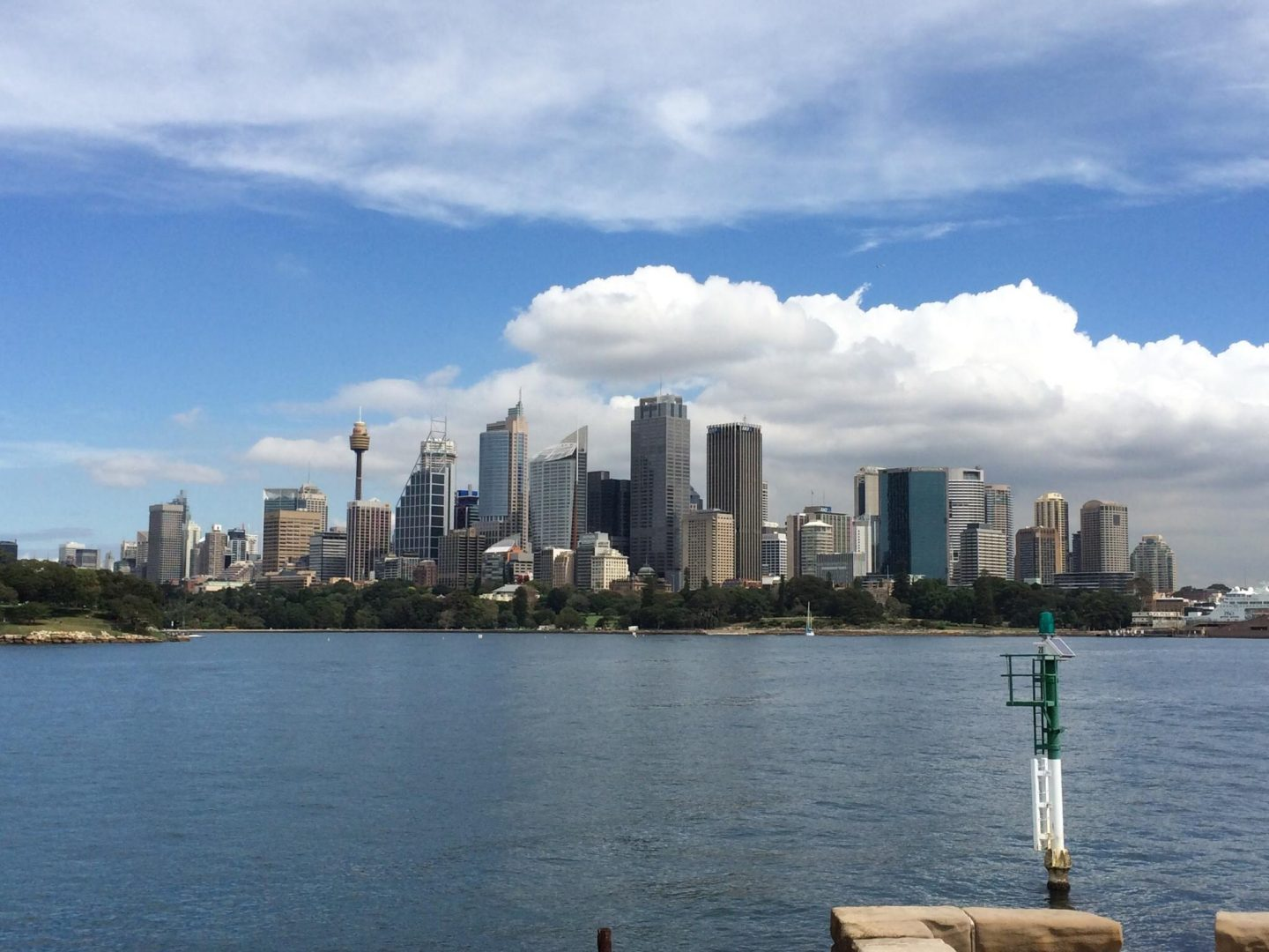 Views of Sydney's skyline from Fort Denison